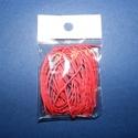 Viaszos szál-8 (5 db/csomag) - piros, Gyöngy, ékszerkellék, Ékszerkészítés,  Viaszos szál-8 - piros  Színes, viaszos zsinór Mérete (1 db): 1 mm vastag/80 cm hosszú  Nyakbaval..., Alkotók boltja