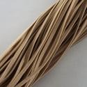 Bőrutánzat zsinór (ZS69/1 db) - barna, Egyéb alapanyag, Bőrművesség,  Bőrutánzat zsinór (ZS69) - barna  Mérete: 3x1 mm/80 cm Nyakbavaló alapnak, fonási technikákhoz aj..., Alkotók boltja