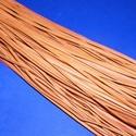 Bőrszíj - 3x1 mm (101. minta/1 db) - narancssárga, Vegyes alapanyag, Egyéb alapanyag, Bőrművesség,  Bőrszíj (101. minta) - narancssárgaValódi, puha hasított marhabőrből készült.Nyaklánc alapokhoz és..., Alkotók boltja