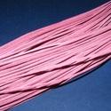 Bőrszíj - 2x1 mm (113. minta/1 db) - rózsaszín, Egyéb alapanyag, Bőrművesség,  Bőrszíj (113. minta) - rózsaszínValódi, puha hasított marhabőrből készült.Nyaklánc alapokhoz és fo..., Alkotók boltja