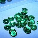 Flitter-2 (3 g/csomag) - zöld (kerek), Gyöngy, ékszerkellék,  Flitter-2 - zöld - kerek  Mérete: Ø 6-7 mmA furat mérete: 1 mm  Kiszerelés: 3 g (kb. 210 db)..., Alkotók boltja