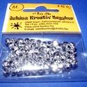 Műanyag gyöngy-11 (4x4 mm/80 db) - ezüst hordó, Gyöngy, ékszerkellék, Gyöngy,  Műanyag gyöngy-11 - ezüst hordó  Mérete: 4x4 mmFurat: 2 mm  A csomag tartalma: kb. 80 db gyöngy  A..., Alkotók boltja