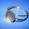 Fém karkötő alap (8. minta/1 db) - arany (Ø 25 mm), Gyöngy, ékszerkellék,  Fém karkötő alap (8. minta) - egy tárcsás - arany színben - csipkés szélűNikkel-, kadmium-..., Alkotók boltja