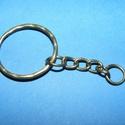 Kulcskarika lánccal (469/D minta/1 db) - 25 mm , Csat, karika, zár, Alkotók boltja