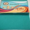 Dekorfilc (2 mm/puha) - türkiz, Textil,   Dekorfilc - puha - türkiz  Mérete: 30x20 cmVastagsága: 2 mm  A filc anyag, könnyen vágható, ..., Alkotók boltja