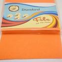 Dekorfilc (2 mm/puha) - világos narancssárga, Textil, Varrás,   Dekorfilc - puha - világos narancssárga  Mérete: 30x20 cmVastagsága: 2 mm  A filc anyag, könnyen ..., Alkotók boltja