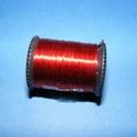 Gyöngyfűző drót - kicsi (Ø 0,3 mm/1 db) - piros, Gyöngy, ékszerkellék, Drót, Fűzőszál,  Gyöngyfűző drót - piros  Mérete: Ø 0,3 mm Egy tekercsen kb. 10 m drót van.  Az ár 1 db tekercsre ..., Alkotók boltja