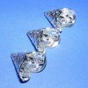 Gyöngykupak (10. minta/1 db) - 16 mm , Egyéb alkatrész,  Gyöngykupak (10. minta) - ezüst színben  Mérete: 16x16 mm  A furat mérete 1,5mm  Az ár egy ..., Alkotók boltja