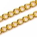 Táskalánc (9x5 mm/120 cm) - arany színű, Csat, karika, zár, Mindenmás,  Táskalánc (120 cm) - arany színű  A lánc erős anyagból készült. A szemei oválisak, felületük csisz..., Alkotók boltja