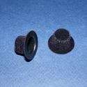 Mini kalap,cilinder (30mm 1 db) - fekete, Dekorációs kellékek, Figurák, Mindenmás,   Mini kalap,cilinder - fekete - bársony    Mérete: Ø 30 mmMagassága:   Az ár 1 darab termékre v..., Alkotók boltja