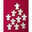 Karácsony  (8.minta/1 db) - kicsi angyal, Fa, Famegmunkálás, Egyéb fa,  Karácsony (8.minta/1 db) - kicsi angyal    Mérete: 25x30 mmAnyaga: natúr rétegelt lemezAnyagvas..., Alkotók boltja