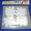 Hungarocell figura (14. minta/16 db) - hópihék, Díszíthető tárgyak, Hungarocell,  Hungarocell figura (14. minta) - hópihék  Mérete: 9 cm  A csomag tartalma: 16 db hópehelyAz ár..., Alkotók boltja