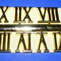Római számsor (102. minta/arany) - 20 mm, Órakészítés, Számok, betűk, Mindenmás,  Számsor (102. minta) - arany - római számok - öntapadós  Mérete: 20 mm  Az ár egy készletre vonatk..., Alkotók boltja