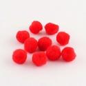 Pompom (Ø 20 mm/10 db) - piros, Dekorációs kellékek, Figurák, Mindenmás,  Pompom - piros  Mérete: Ø 20 mm Többféle méretben.Az ár 10 db pompomra vonatkozik. , Alkotók boltja
