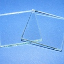 Üveglap-11 (40x40 mm/1 db) - négyzet, Gyöngy, ékszerkellék, Ékszerkészítés,  Üveglap-11 - négyzet   Mérete: 40x40x3 mm   Az ár 1 darab termékre vonatkozik. Többféle formában k..., Alkotók boltja