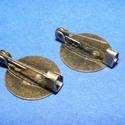 Kitűző alap (394. minta/1 db) - bross , Gyöngy, ékszerkellék, Ékszerkészítés,  Kitűző/bross alap (394. minta) - ragasztható - bronz színben  A kitűző tű mérete 20mm  A tárcsa mé..., Alkotók boltja