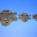 Doboz csat (7. minta/1 db) - bronz, Csat, karika, zár, Alkotók boltja