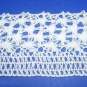 Csipke (15. minta/1 m) - fehér, Textil,  Csipke (15. minta) - fehér  Szélessége: 75 mmSzíne: fehérAnyaga: 100% pamut  Többféle mintá..., Alkotók boltja
