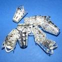 Gyöngykupak (25. minta/4 db) - 16x10 mm, Egyéb alkatrész,  Gyöngykupak (25. minta) - ezüst színben  Mérete: 16x10 mm  Az ár 4 darab termékre vonatkozik...., Alkotók boltja