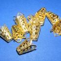 Gyöngykupak (26. minta/4 db) - 16x10 mm, Gyöngy, ékszerkellék, Egyéb alkatrész,  Gyöngykupak (26. minta) - arany színben  Mérete: 16x10 mm  Az ár 4 darab termékre vonatkozik. ..., Alkotók boltja