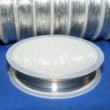 Ékszerdrót (Ø 0,2 mm/1 db) - ezüst színű, Gyöngy, ékszerkellék, Drót, Ékszerkészítés, Fűzőszál,  Ékszerdrót - ezüst színű  Kiváló minőségű, fűzésre alkalmas ékszerdrót.  Méret: Ø 0,2 mmA tekercse..., Alkotók boltja
