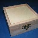 Fadoboz (11x11x4,5 cm/1 db) - peremes, Fa, Famegmunkálás, Egyéb fa,  Fadoboz - peremes  Mérete: 11x11x4,5 cm cmAnyaga: natúr fa, nem pácolt, nem kezeltA tető kialakítá..., Alkotók boltja