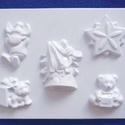 Karácsony-25 - gipszöntő forma (5 motívum) - karácsonyi figurák, Szerszámok, eszközök, Egyéb szerszám, eszköz, Gipszöntés,     Karácsony-25 - karácsonyi gipszöntő forma   5 különböző figura: csillag, 2 féle maci, szarvas, ..., Alkotók boltja