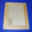 Fa képkeret (26x21 cm/1 db) - lekerekített - lapos (20x15 cm), Fa, Famegmunkálás, Egyéb fa,  Fa képkeret (20x15 cm-es képhez) - lekerekített  Univerzális keret, mely falra akasztható vagy pol..., Alkotók boltja