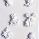Karácsony-28 - gipszöntő forma (6 motívum) - karácsonyi figurák, Szerszámok, eszközök, Egyéb szerszám, eszköz, Gipszöntés,     Karácsony-28 - karácsonyi gipszöntő forma   6 karácsonyi figura: 4 féle hóember, fenyő, szarvas..., Alkotók boltja