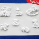 Állat-34 - gipszöntő forma (7 motívum) - apró állatok, Szerszámok, eszközök, Egyéb szerszám, eszköz, Gipszöntés,         Állat-34 - gipszöntő forma - apró állatok   - sablon: 16,5x23 cm- minta: 3,5-7 cm Az ár egy..., Alkotók boltja