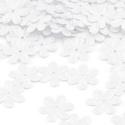 Flitter-46 (3 g/csomag) - fehér (virág), Gyöngy, ékszerkellék, Varrás,  Flitter-46 - fehér - virág  Mérete: Ø 14 mmA furat mérete: 1 mm  Kiszerelés: 3 g (kb. 100 db) Töb..., Alkotók boltja