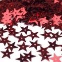 Flitter-62 (3 g/csomag) - piros (csillag), Gyöngy, ékszerkellék, Varrás,  Flitter-62 - piros - csillag  Mérete: Ø 13 mmA furat mérete: 1 mm  Kiszerelés: 3 g (kb. 150 db) T..., Alkotók boltja