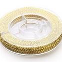 Fonott kötözőzsinór (Ø 0,6 mm/1 tekercs) - arany, Gyöngy, ékszerkellék, Ékszerkészítés,  Fonott kötözőzsinór - arany   Rendkívül dekoratív, fényes arany színű fonott metál zsinór  Vastags..., Alkotók boltja