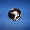 Amerikai nyakkendő dísz (1 db) - ló, Gyöngy, ékszerkellék, Ékszerkészítés,  Zsinór (amerikai) nyakkendő dísz - ló - platinum színben  Mérete: Ø 32 mmAnyaga: zamak  Az ár 1 da..., Alkotók boltja