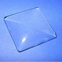 Üveglencse - 35x35 mm (920. minta/1 db) - négyzet, Gyöngy, ékszerkellék, Cabochon, Ékszerkészítés,  Üveglencse (920. minta) - négyzet  Méret: 35x35 mm Használható a termékeim között található medál..., Alkotók boltja