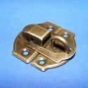 """Lakat pánt (1 db) - """"U"""" típus, Csat, karika, zár,  Lakat pánt - """"U"""" típus - antik bronz színben     Mérete: 30x27 mm  5 mm-es szárvastagságú ..., Alkotók boltja"""
