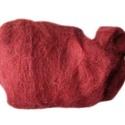 Festett gyapjú (5 g) - bordó, Textil, Varrás,  Festett gyapjú - bordó  Kiszerelés: 5 g Többféle színben.Az ár 5 g termékre vonatkozik. , Alkotók boltja