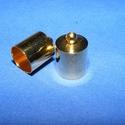 Bőrvég (34. minta/1 db) - 9x13 mm, Gyöngy, ékszerkellék, Alkotók boltja