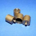 Bőrvég (41. minta/1 db) - 14x10 mm, Gyöngy, ékszerkellék, Ékszerkészítés,  Bőrvég és szalagvég (41. minta) - bronz színben  Mérete: 14x10 mm Belső átmérő: 9 mm  Az ár egy da..., Alkotók boltja