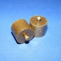 Bőrvég (47. minta/1 db) - 18x18 mm, Gyöngy, ékszerkellék, Ékszerkészítés,  Nagy méretű bőrvég és szalagvég (47. minta) - antik bronz színben  Mérete: 18x18 mm Belső átmérő: ..., Alkotók boltja