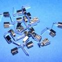 Bőrvég, szalagvég (14 minta/1 db) - 9x4 mm, Gyöngy, ékszerkellék, Ékszerkészítés,  Bőrvég/szalagvég végzáró (14 minta) - ezüst színben  Mérete: 9x4 mm Befogó rész: 5x4 mm A furat m..., Alkotók boltja