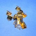 Szalagvég (1 minta/1 db) - 6x8x5 mm, Gyöngy, ékszerkellék, Ékszerkészítés,  Szalagvég (1 minta) - arany színben  Mérete: 6x8x5 mm  Az ár egy darab termékre vonatkozik.  , Alkotók boltja