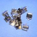 Szalagvég (2 minta/10 db) - 6x8x5 mm, Gyöngy, ékszerkellék,  Szalagvég (2 minta) - platinum színben  Mérete: 6x8x5 mm  Az ár 10 darab termékre vonatkozik. ..., Alkotók boltja
