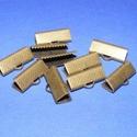 Szalagvég (21 minta/1 db) - 16x8x5 mm,  Szalagvég (21 minta) - bronz színben  Mérete: ...