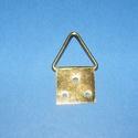 Képakasztó (4. minta/1 db) - 32x17 mm, Csat, karika, zár,     Képakasztó (4. minta) - arany  Mérete: 17x32 mm (teljes hossz az akasztó résszel)A rögzí..., Alkotók boltja