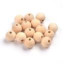 Natúr fagolyó (Ø 12 mm/1 db), Gyöngy, ékszerkellék,  Natúr fagolyó  Mérete: Ø 12 mmA furat mérete: kb. 3,5 mmAnyaga: natúr fa, nem pácolt, nem ke..., Alkotók boltja