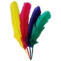 Dekorációs indián toll-112 (4 db) - magenta, lila, sárga, zöld , Vegyes alapanyag, Mindenmás,  Dekorációs indián toll-112 - magenta, lila, sárga, zöld  A tollak mérete: 28-30 cm A csomag tarta..., Alkotók boltja