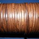 Lapos bőrszíj - 5x2 mm (2. minta/1 m) - antik sötétbarna, Egyéb alapanyag,  Lapos bőrszíj (2. minta) - tekercses - antik sötétbarna  Mérete: 5x2 mm átmérőjűValódi ha..., Alkotók boltja