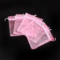 Organzatasak (10x12 cm/1 db) - rózsaszín, Textil, Varrás,  Organzatasak (10x12 cm/1 db) -rózsaszín  Organza szövetből készült anyag, jó tartású csomagolóanya..., Alkotók boltja