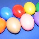 Műanyag tojás akasztó nélkül (kék/1db) 6cm, Vegyes alapanyag,  Műanyag tojás   A tojáson 1db 3mm-es furat található  Mérete:63x45mmAnyaga: műanyag  Az ár ..., Alkotók boltja